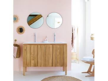 Meuble Salle de bain en bois de teck et céramique 120 Jill