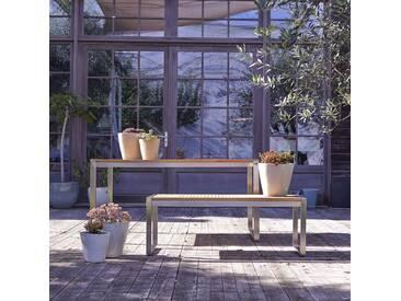 Salon de jardin en bois de teck et inox Arno