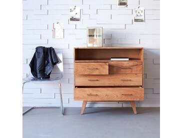 Commode en bois dacacia 4 tiroirs Oslo