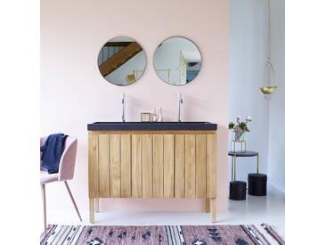 Meuble Salle de bain en bois de teck et pierre de lave 120 Jill