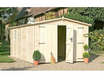 Garage en bois 3m x 5m- ALBATROS - 15m² - Porte avec serrure
