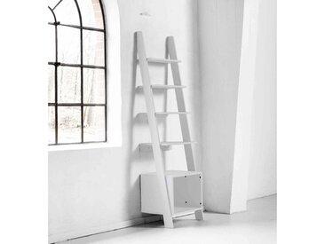 Étagère de rangement design bois blanc