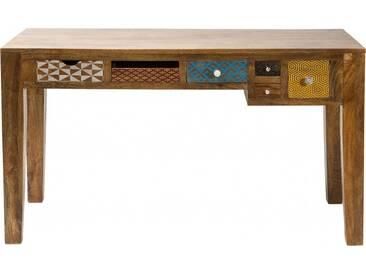 Bureau en bois Soleil 6 tiroirs 135x60cm Kare Design