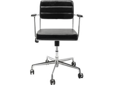 Chaise de bureau pivotante Dottore noire Kare Design