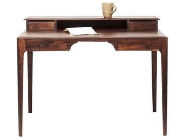 Bureau en bois Brooklyn walnut 4 tiroirs 110x70cm Kare Design
