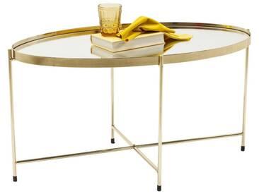 Table basse Miami ovale laiton 83x40cm Kare Design