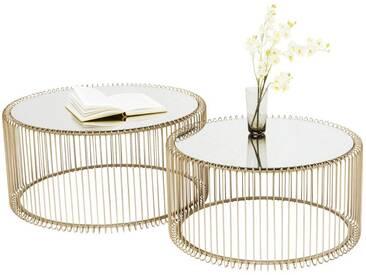 Tables basses Wire laiton set de 2 Kare Design