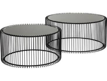 Tables basses rondes Wire noires set de 2 Kare Design