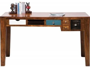 Bureau en bois Babalou 6 tiroirs 135x60cm Kare Design