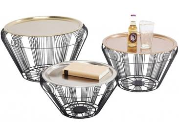 Tables basses Bora Wire set de 3 Kare Design