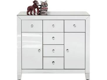 Commode Luxury argent 2 portes 6 tiroirs Kare Design
