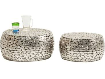 Tables basses Pebbles Deluxe argent set de 2 Kare Design