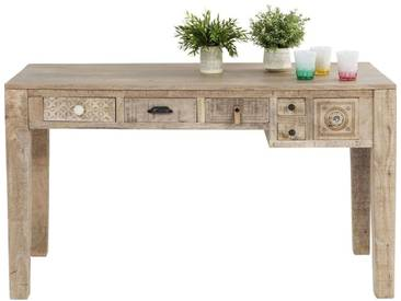 Bureau en bois Puro 6 tiroirs 135x60cm Kare Design