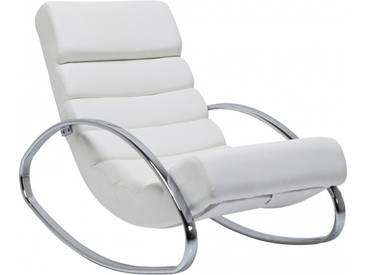 Fauteuil Rocking Chair Manhattan blanc Kare Design