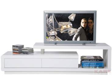 Meuble TV blanc Loft 2 tiroirs Kare Design