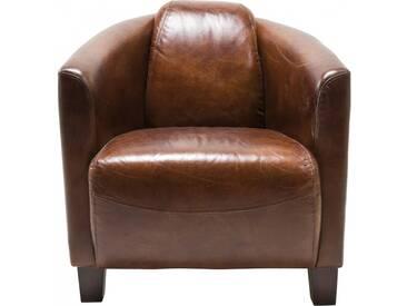 Fauteuil Cuir Vintage Semi Cigar Lounge Kare Design