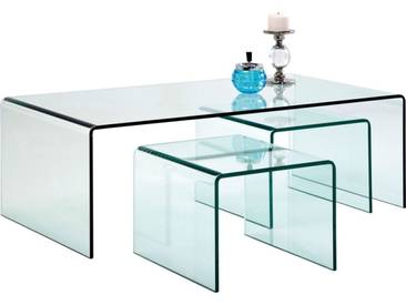 Tables basses Clear Club set de 3 Kare Design