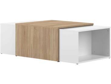 Table basse Domino - blanc/chêne