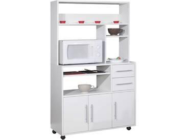 Armoire de cuisine Cesar pour four à micro-ondes - blanc