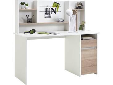 Bureau Camilla - blanc/chêne