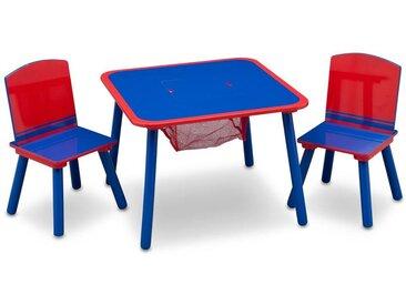 Table et chaises, bleu/rouge