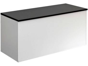 Banc Knight avec rangement - blanc/noir
