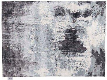 Pappu - tufté main:  Tapis Oriental Gris Noir Blanc, Designer Moderne, Soie Bambou