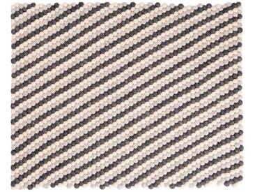 Deevyah - rectangulaire: 100cm x 140cm Round laine naturelle Couleurs feutrés Balls tapis du Népal, Acheter en ligne