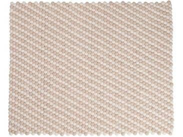 Sang - rectangulaire: 150cm x 200cm Blanc et blanc cassé laine Tapis du Népal bas prix, acheter en ligne