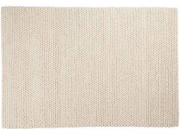 Kalim: 170cm x 240cm moquette en laine blanche, laine naturelle douce, hygge, tapis en laine épaisse
