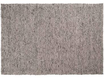 Yash: Custom Size Tapis tissé plat, laine gris ivoire, adapté pour bureau ou table à manger