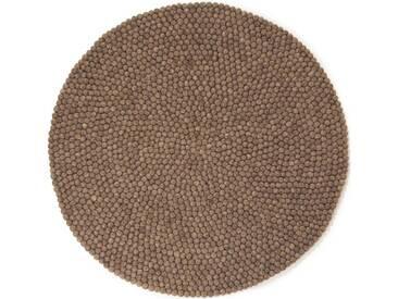 Ashley - rond: 20cm Sombre premières naturelles de la Terre de couleur Tapis de Boules ronde dans toutes les tailles