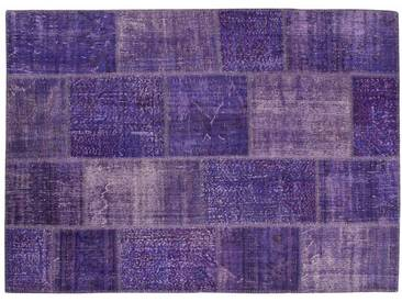 Nisanur: 300cm x 400cm Violet luxe turque Overdyed tapis qualité Handmade Modern Clearance