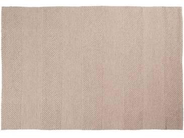 Lala: 80cm x 100cm tapis plat blanc tissé, tapis indiens faits à la main, fort, adapté à la table à manger