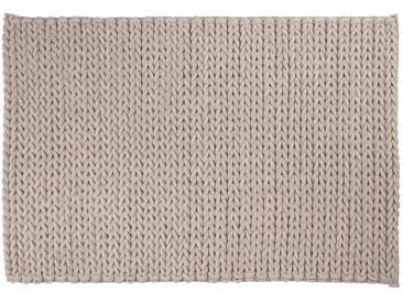 Sunil: 15cm x 20cm tapis argentés, gris clair, tapis de feutre tressés, laine feutrée, zuiver nienke