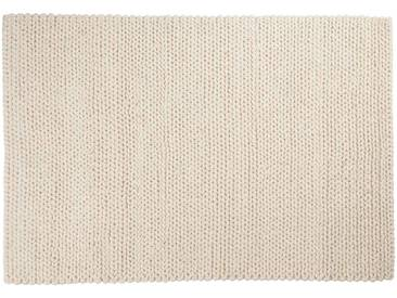 Kalim: 120cm x 170cm moquette en laine blanche, laine naturelle douce, hygge, tapis en laine épaisse