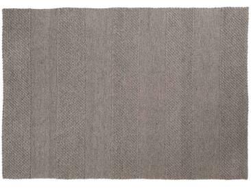 Mohit: 200cm x 300cm tapis gris plat darmure, salle à manger, tapis de laine de mouton, grand tapis