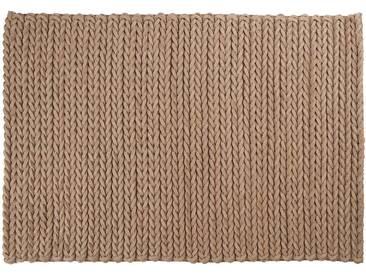 Yakub: Custom Size beige, tapis marron clair, tapis en feutre indien, prix, acheter en ligne