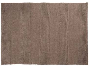 Paras: 100cm x 140cm tapis naturel marron à tissage plat, tapis design gris, grand