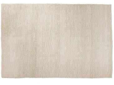 Ayush: 300cm x 400cm Beautiful White laine Tapis fait main en Inde du commerce équitable et de petits pois grandes Taille de foin