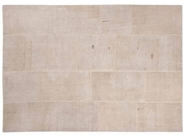 Irmak: 100cm x 140cm Fibres naturelles Patchwork tapis blanc beige Couleur beau salon personnalisés Tailles