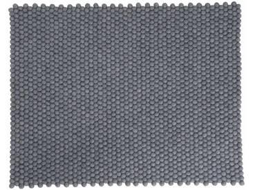 Swornima - rectangulaire: 200cm x 300cm Tapis de Créateurs Danois, Gris Foncé, Boules des Laine, Garderie, Acheter en Ligne