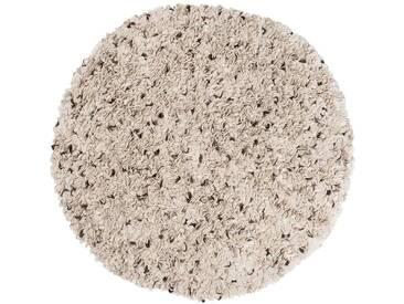 Aditya – rond: Custom Size Danish Design tapis en laine naturelle de couleur blanche ronde,Destockage