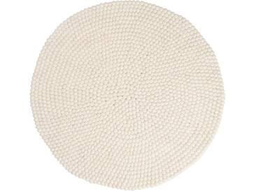 Shirisha - rond: 70cm Blanc Designer fantastique feutrés Balles Tapis en ligne Acheter