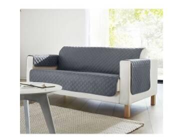 Protège-fauteuil : 60x140cmgris  Protège-salon matelassé microfibre