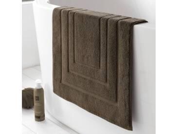 Tapis de bain : 50x75cmtaupe  Tapis de bain coton double liteau
