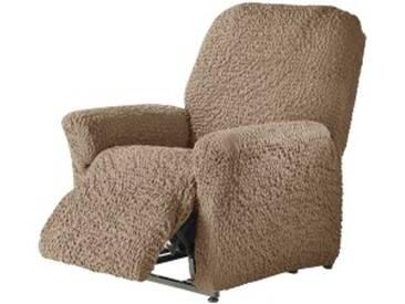 Housse fauteuil relaxationchocolat  Housse fauteuil relaxation gaufrée bi-extensible