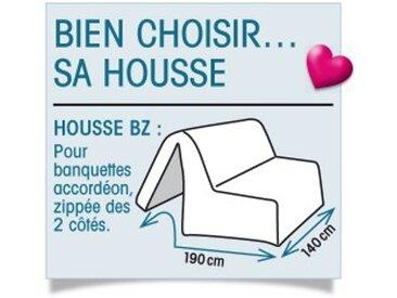 Housse BZ non matelassée : 190x140cmbleu paon  Housse canapé BZ bachette matelassée