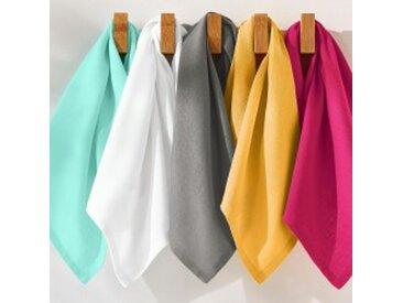 Lot de 6 serviettes : 45x45cmVERT D EAU Serviettes de table unies - lot de 6