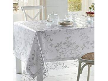 Métrage en 140cmtransparent / blanc  Métrage toile cirée transparente motif végétal